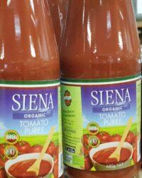 Siena organic tomato puree
