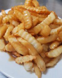 Air fried vegan gluten free chip & gravy