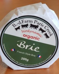 Brie cheese Paris Creek