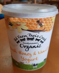 Honey and vanilla Paris Creek yogurt